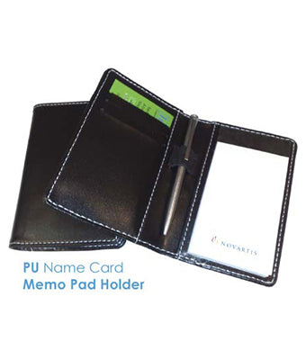 PU Name Card Memo Pad Holder - Tredan Connections