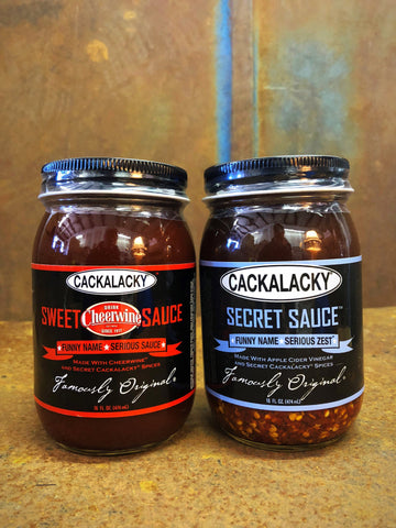 The Bottle Royale! Cackalacky® Tomato vs. Vinegar Sauce Variety 2-Pack