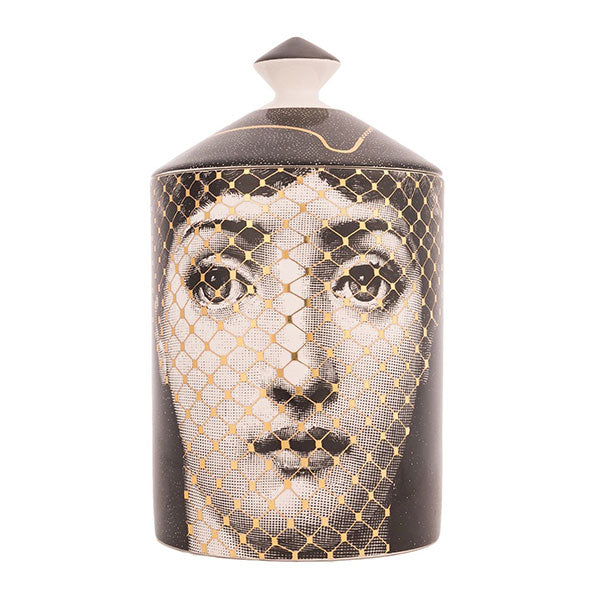 Golden Burlesque Lidded Candle by Fornasetti
