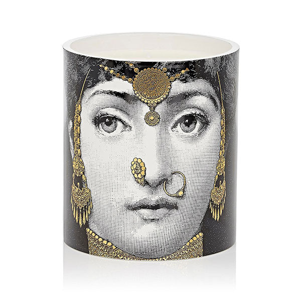 L'Eclaireuse Gold Grande Candle by Fornasetti