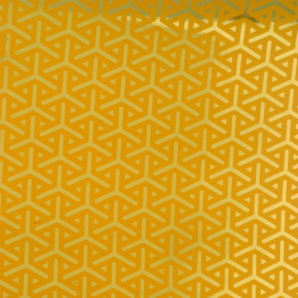 Vapor - Gold on Bright Gold Mylar Wallpaper by Flavor Paper - Vertigo Home