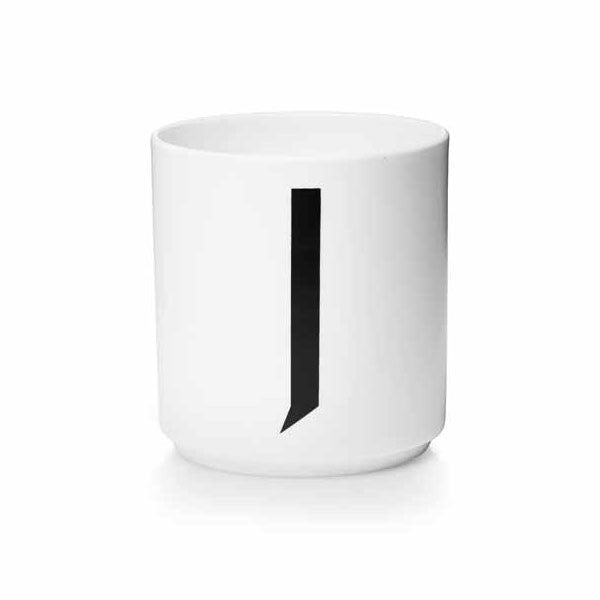 'J' Design Letters Bone China Cup - Vertigo Home