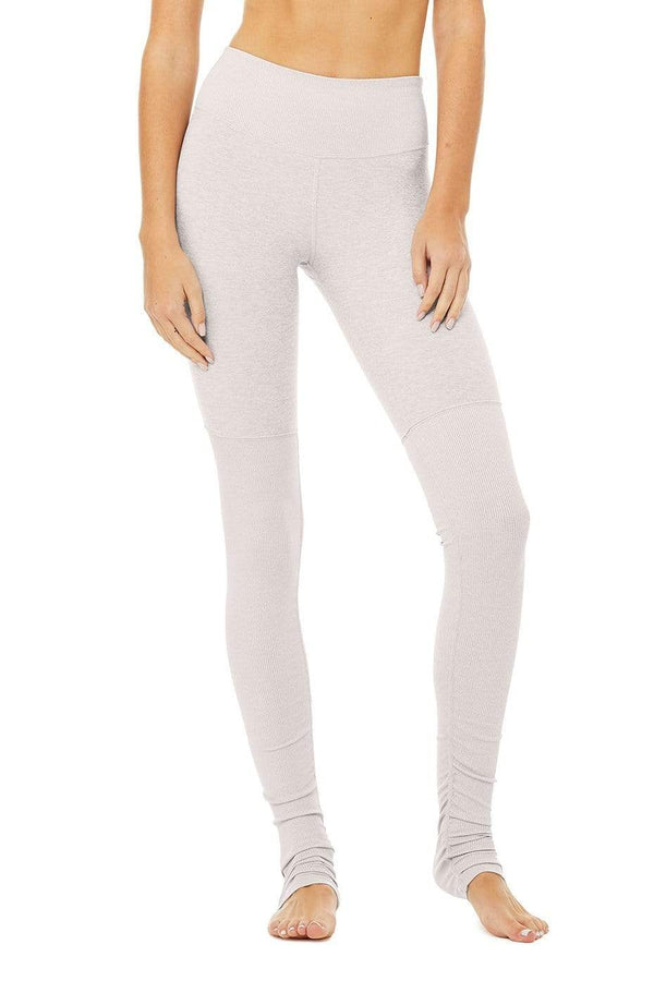 WOMENS LEGGINGS XXS (U.K 4) Alo Yoga High Waist Alosoft Legging - Lavender Cloud / Heather