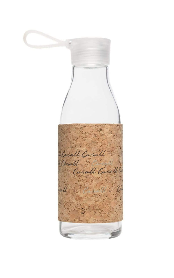 WATER BOTTLE Casall ECO glass bottle 0,6L – Natural cork
