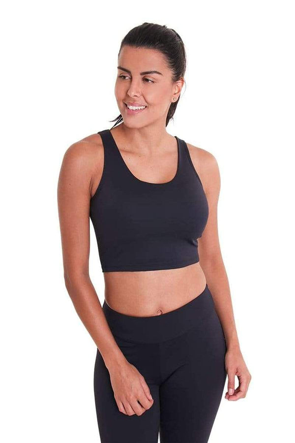 WOMENS BRAS Liquido Eco Crop Top Black