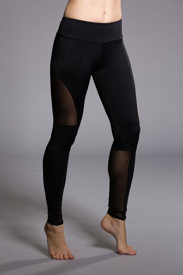 WOMENS LEGGINGS ONZIE Motopant - Black / Mesh