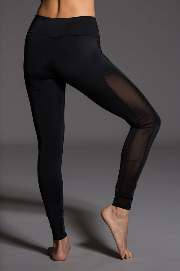 WOMENS LEGGINGS ONZIE Tuxedo Legging - Black / Mesh
