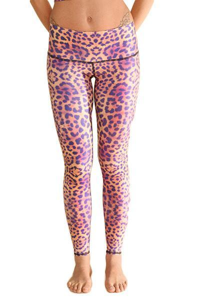 WOMENS LEGGINGS Teeki Purple Awakening Hot Pant