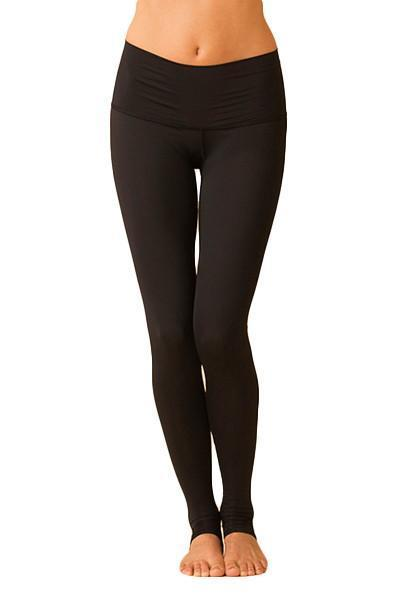 WOMENS LEGGINGS Teeki Solid Black Hot Pant