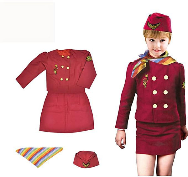 Air Hostess Suit Set - AJ Costume 13880