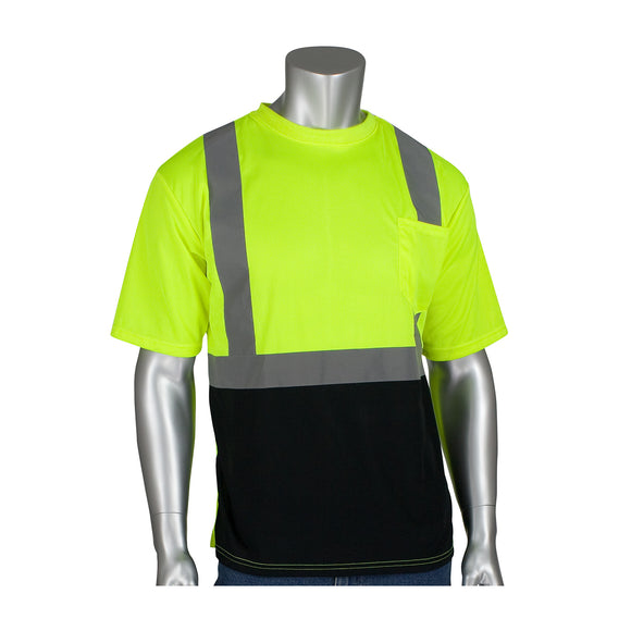 PIP 312-1250B ANSI Class 2 Short Sleeve T-Shirt with Black Bottom