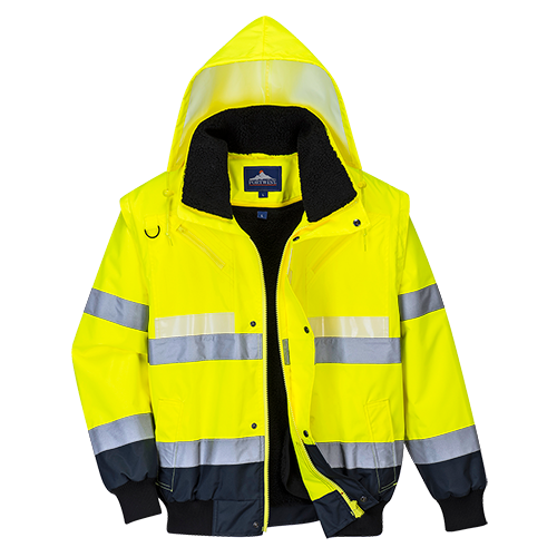 Portwest G465 Glowtex 3-in-1 Bomber Jacket
