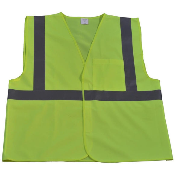 Petra Roc LV2-EC/LVM2-EC ANSI Class 2 Economy Safety Vest with Velcro Closure, Solid Front