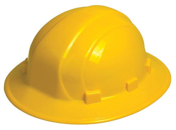 ERB Omega II Full Brim Hard Hat with 6-Point Ratchet Suspension