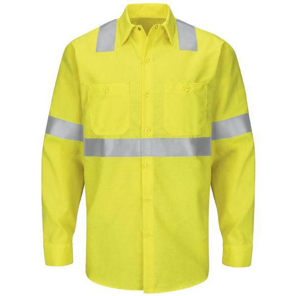 Red Kap SY14 Hi-Visibility Long Sleeve Work Shirt