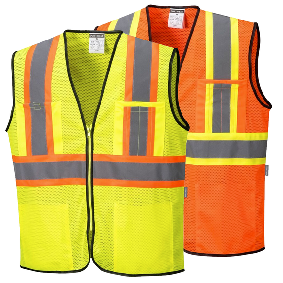 Portwest US381 Frisco Hi-Vis Contrast Safety Vest