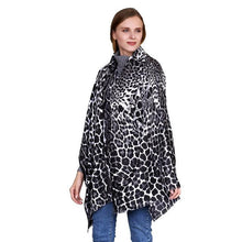 Roaming Wild Cashmere Shift Scarf in Leopard Print