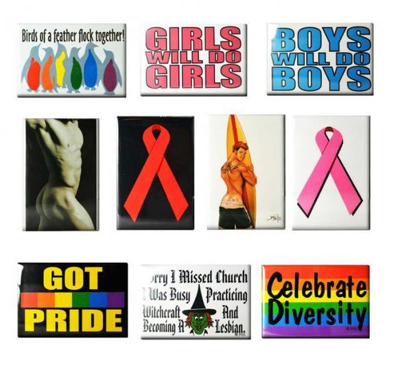 Gaysentials Magnet Pack B 10 Magnets