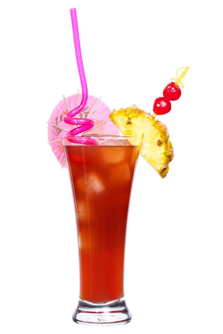Singapore Sling Cocktail with Pineapple