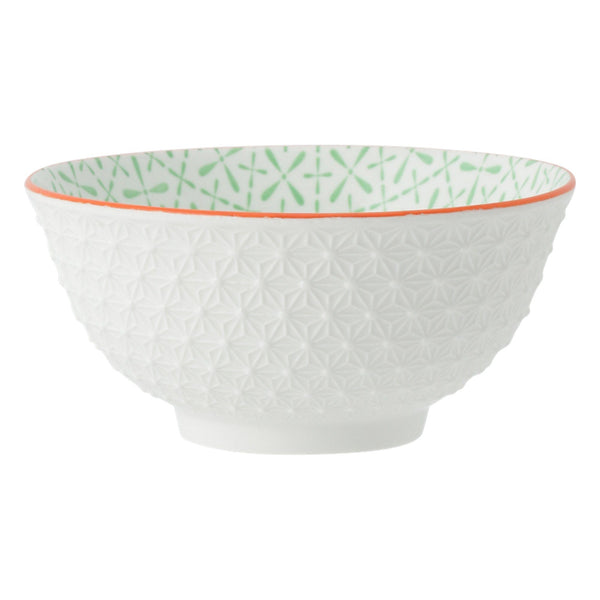 IROIRO Large Bowl Cross White x Green