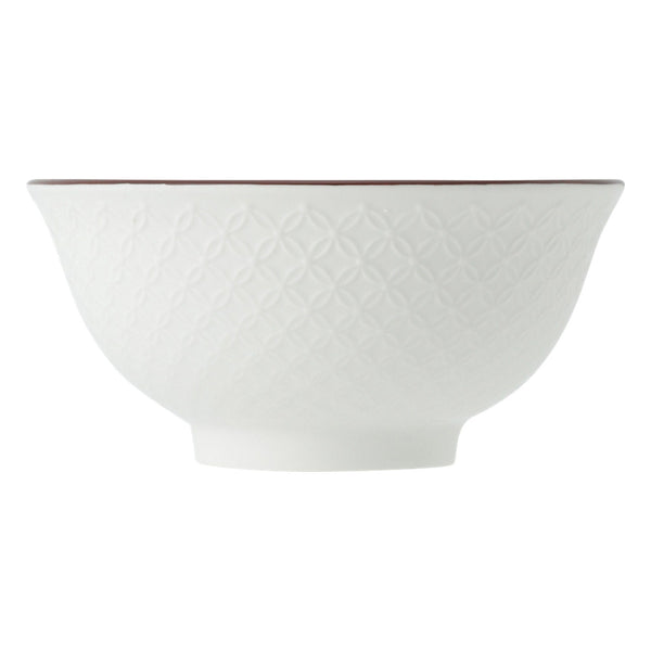 IROIRO Large Bowl Leaf White x Pink