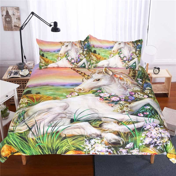 Polyester Reactive Printing Hand Wash Bedding Set