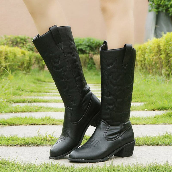 Fashion Mid Tube Women's Flat Boots