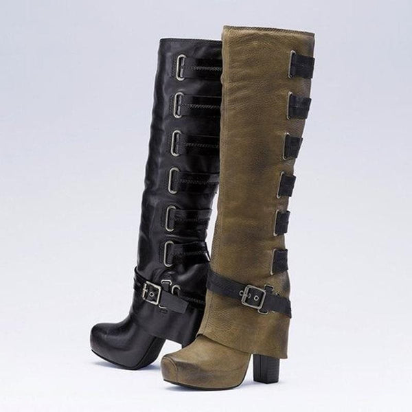 Hasp Pointed Toe Casual Boots