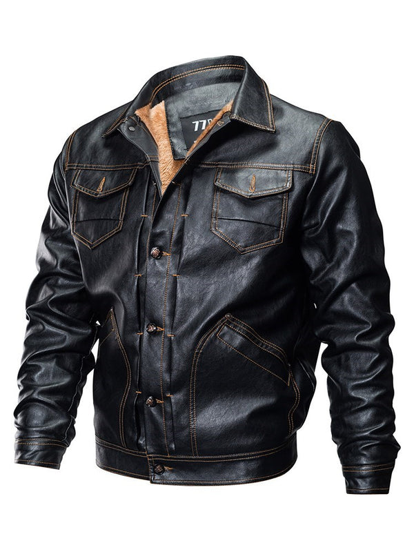 Single-Breasted Loose Long Sleeve Standard Fall Jacket