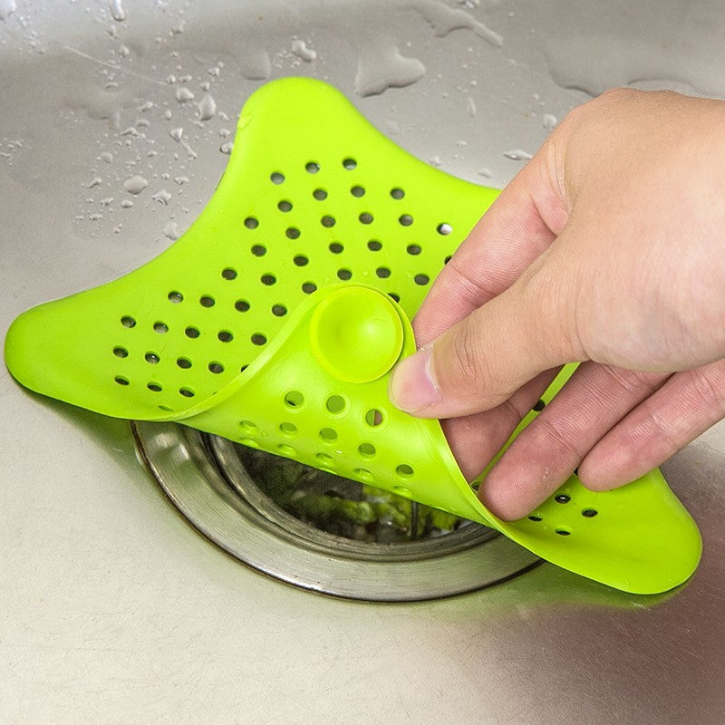 1Pc Star Sewer Outfall Strainer Bathroom Sink Filter Anti-blocking Floor Drain Hair Stopper