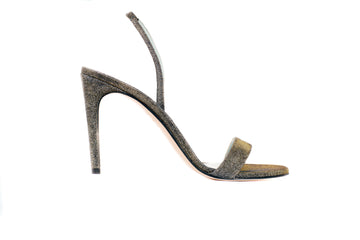 Alexandra Metallic Lurex Vegan Heeled Sandal