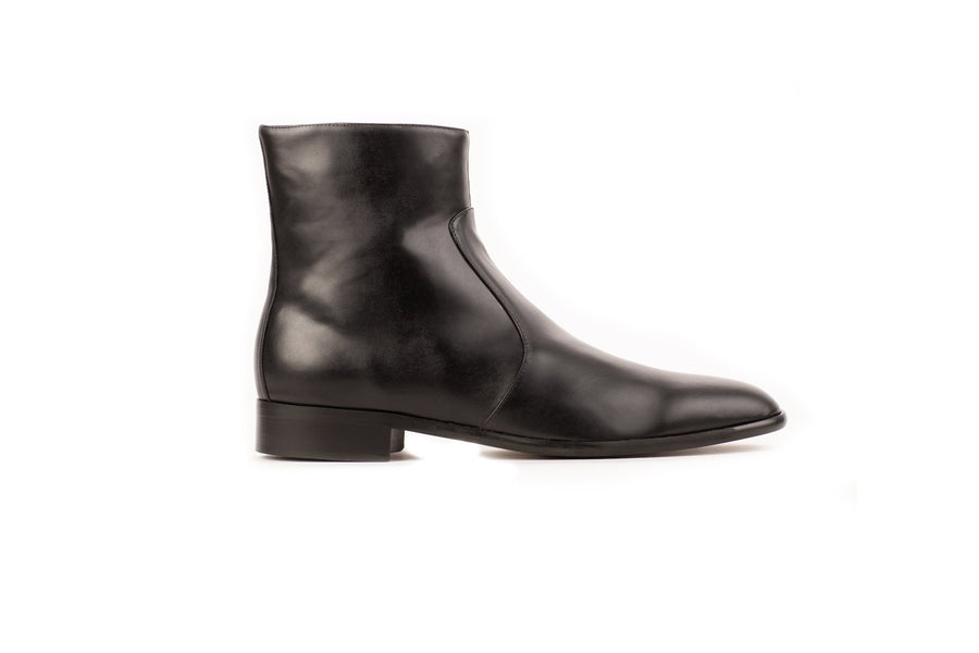 Franky Black Calf-Effect Vegan Boot