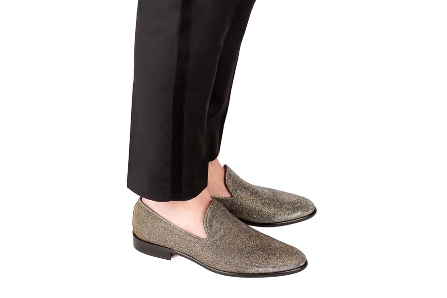Dylan Metallic Lurex Vegan Loafer