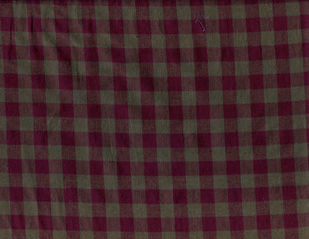 Quilting Fabric Woven Check - Burgundy
