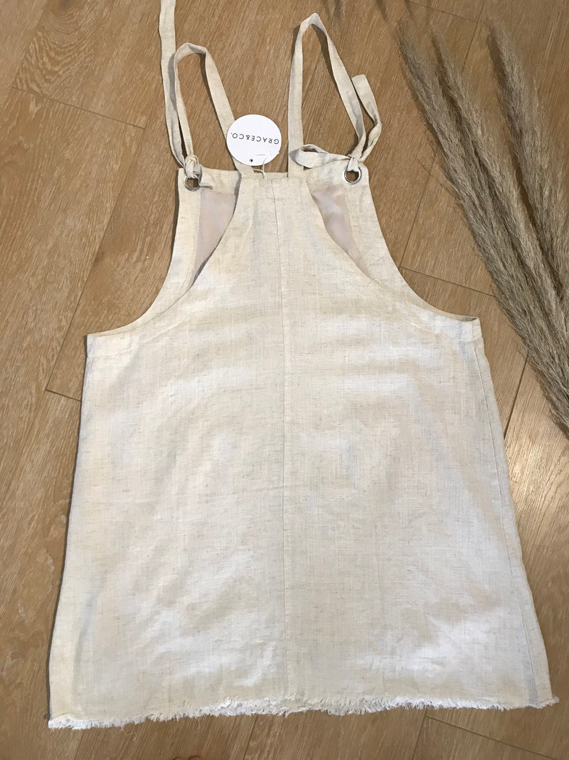 Grace and Co Linen Overall Dress