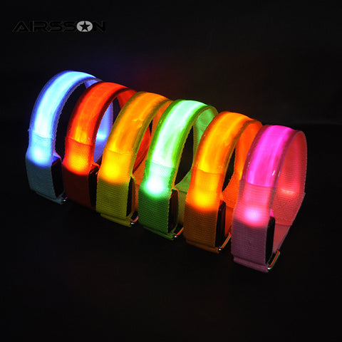 Outdoor Sports Night Running Light Safety LED Arm Leg Wristband