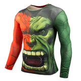 Fitness MMA Compression Shirt Men Anime Long Sleeve