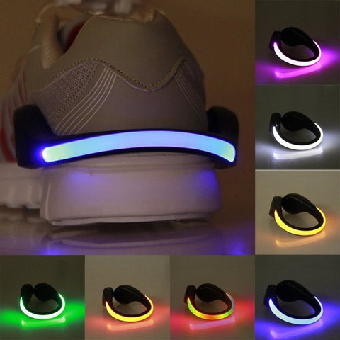 LED Luminous Shoe Clip Light Night Safety For Running Cycling