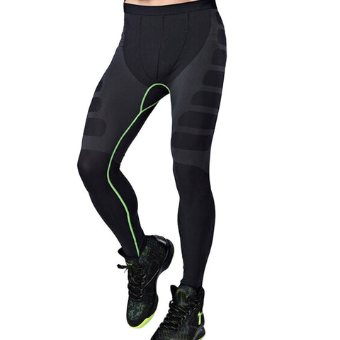 Man Sports Yoga Pants Elastic Tights Fitness Running Trousers