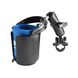 RAM Handlebar Rail Mount with Zinc Coated U-Bolt Base, Cup Drink Holder & Koozie (RAM-B-132RU) - RAM Mounts in Taiwan - Mounts Taiwan