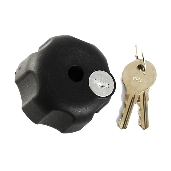 RAM® Key Lock Knob with Brass Insert for Swing Arms (RAM-KNOB6LU)