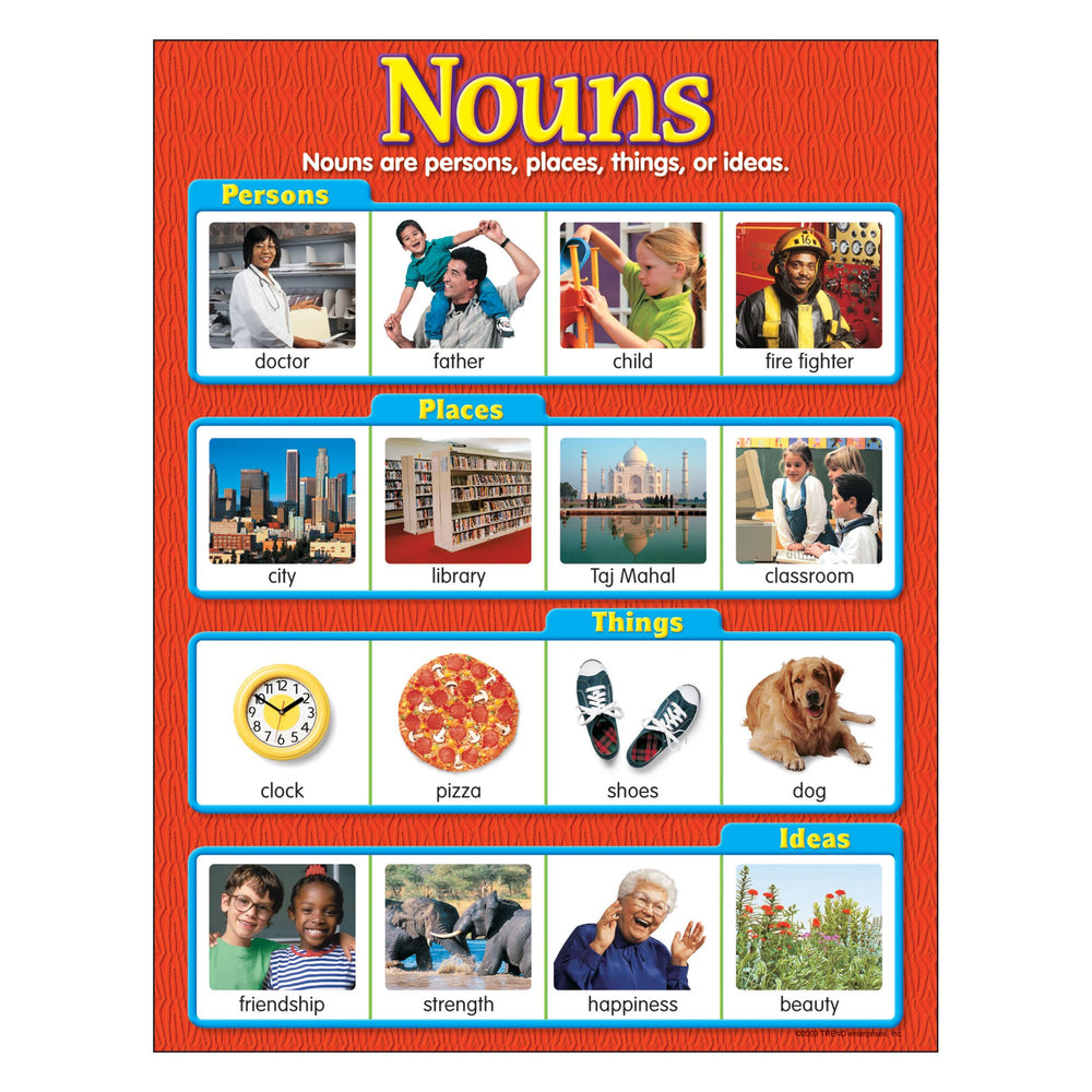 T38130 Learning Chart Nouns