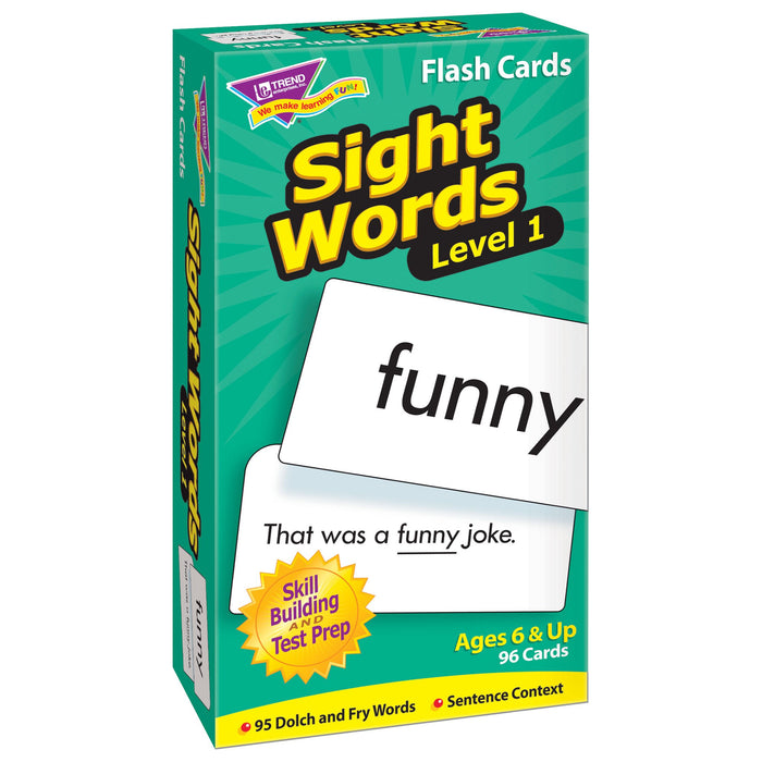 T53017 Flash Cards Sight Words Box Left