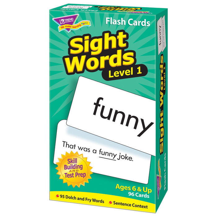 T53017 Flash Cards Sight Words Box Right