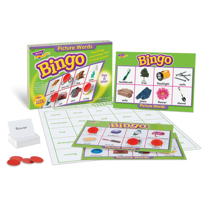 T6063 Bingo Game Picture Words