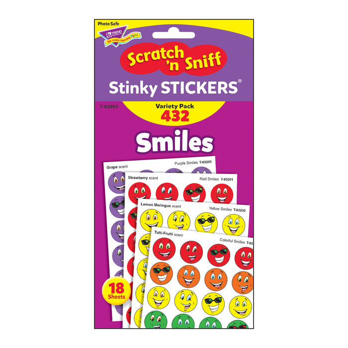 T83903 Sticker Scratch n Sniff Variety Pack Smiles Package