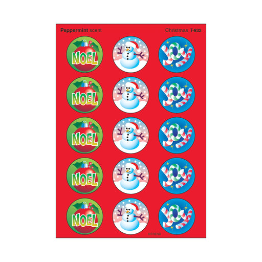 T932 Stickers Scratch n Sniff Peppermint Christmas