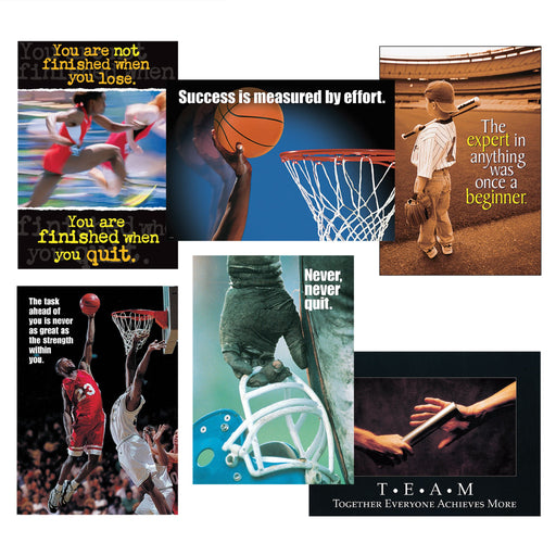 TA67945 Sport-itude 6-pack of sports-themed posters
