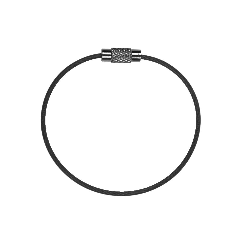 Stainless Steel Wire Rope With Screw Locking Key Chain Cable Ring Loop Keyring
