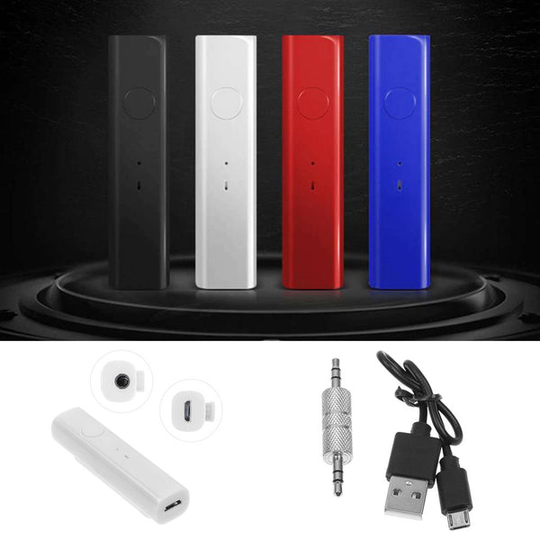 Mini Wireless Bluetooth Car Kit Hands free 3.5mm Jack AUX Audio Receiver Adapter